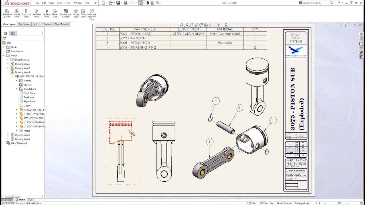 Image result for heavy vehicle pistons solidworks drawing dimension