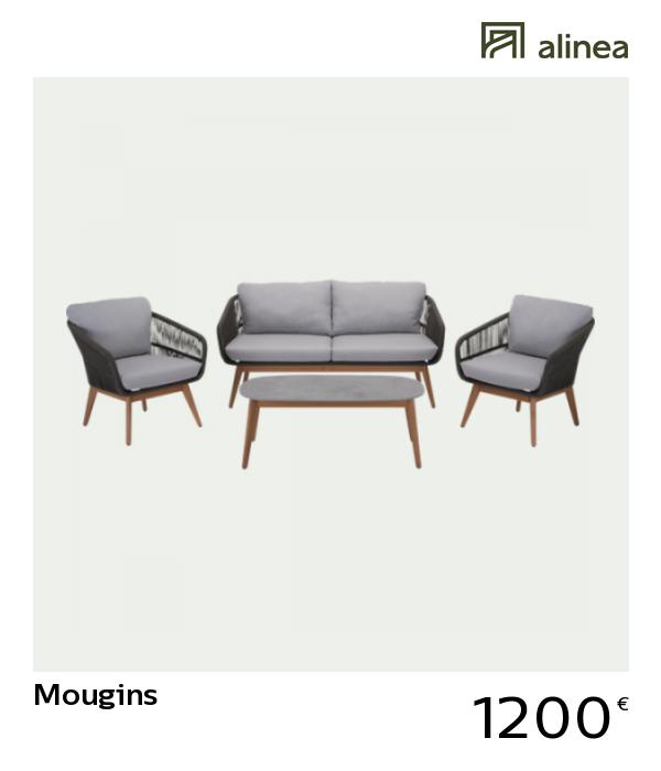 alinea #decoration mougins salon de jardin gris et noir (4 places ...