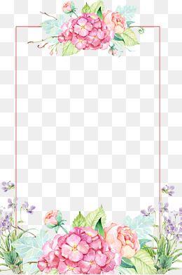 Hand Flower Border Png Flower Border Watercolor Flowers