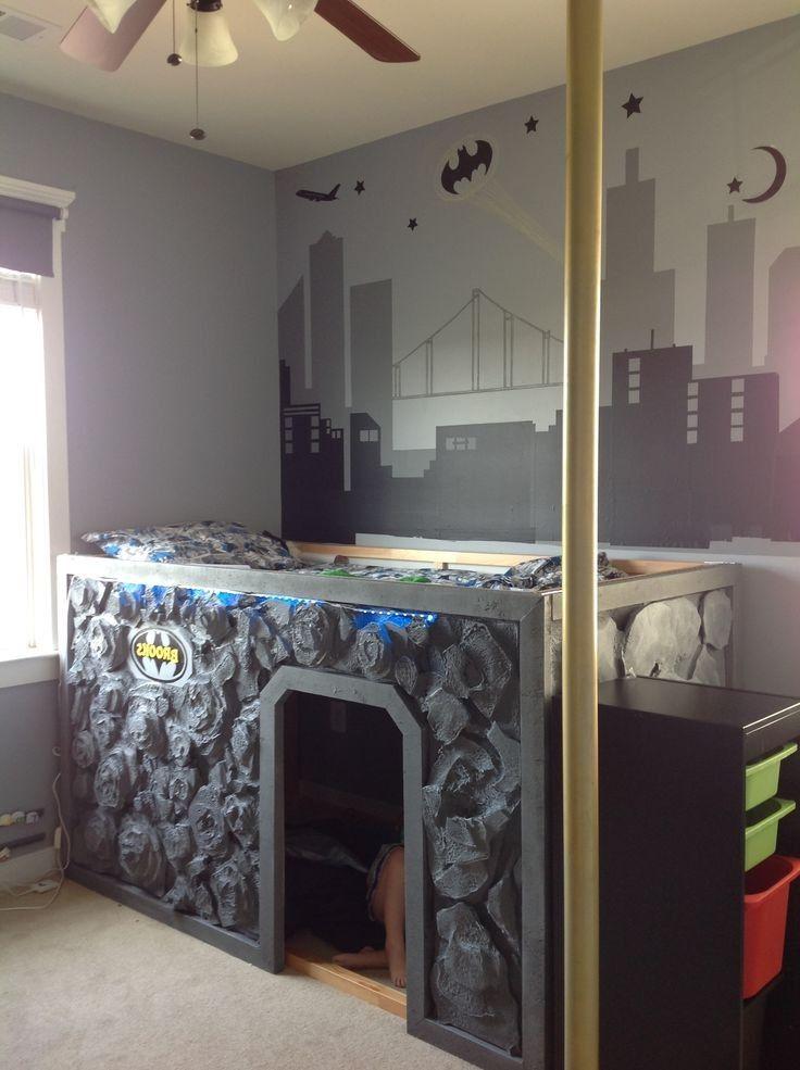 Gotham City Super Hero Bedroom Room Pinterest Bedrooms
