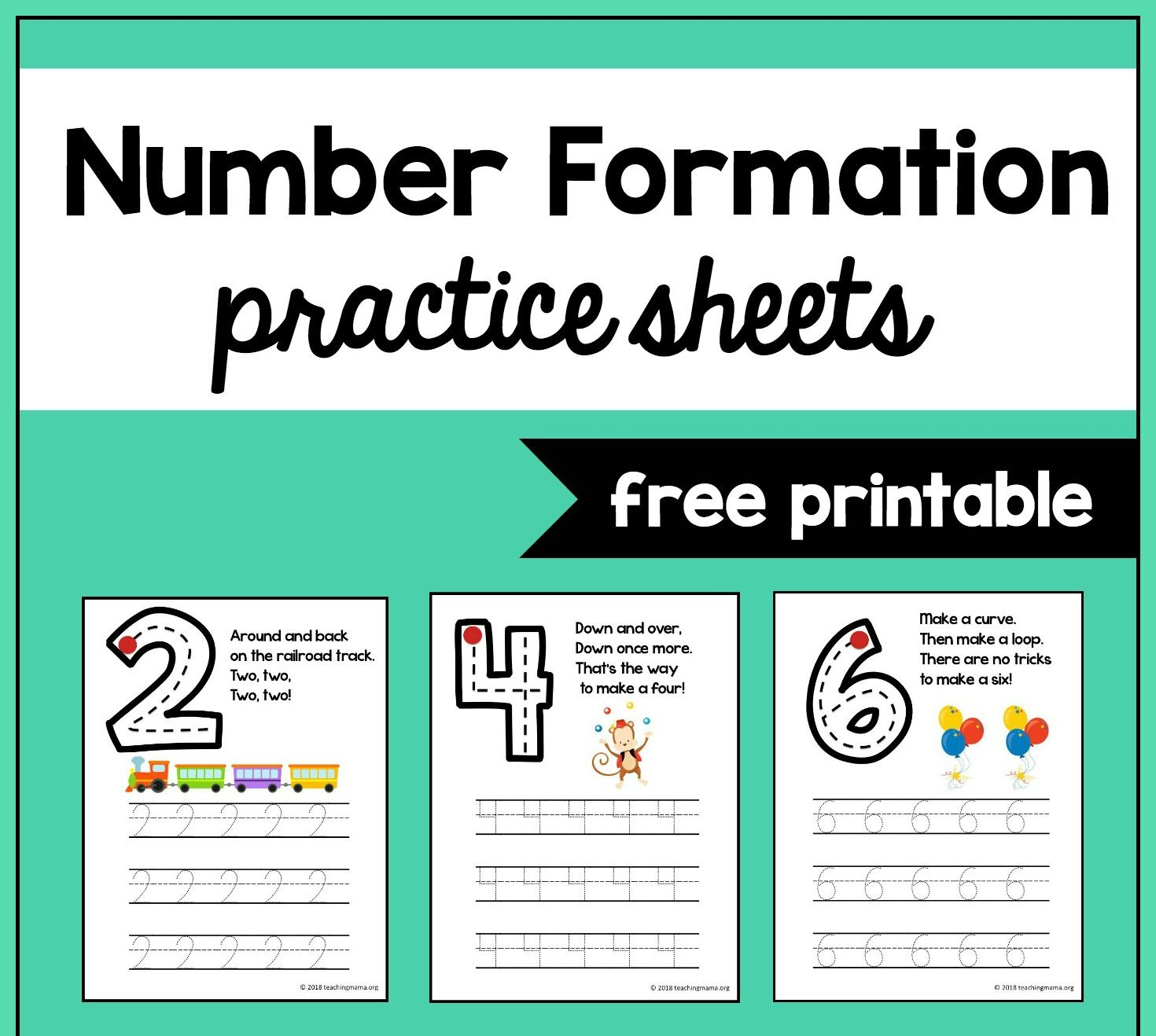 Number Formation Practice Sheets