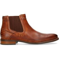 Photo of Cognac-colored leather Chelsea boots (40,41,42,43,44,45,46) Manfield