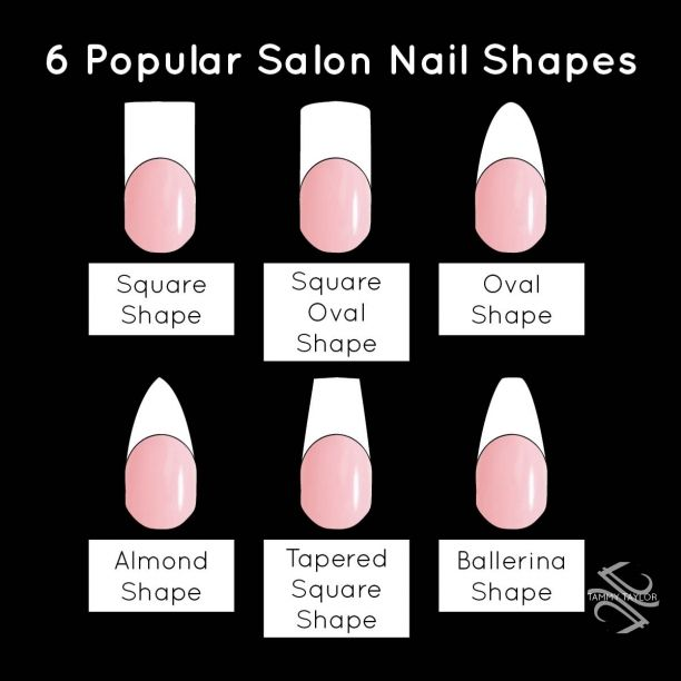 Type Of Acrylic Nail Shapes 2017 Tapered Square Nails Nail Shapes Square Acrylic Nail Shapes