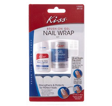 Kiss Brush On Gel Nail Wrap Kit | interesting! | Pinterest | Best ...