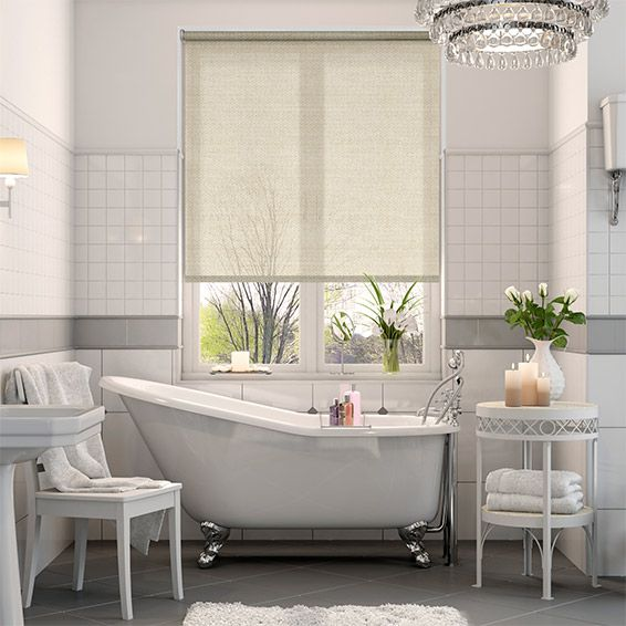 Panama Cotton Roller Blind Master Bedroom Bedrooms And House Fascinating Bathroom Blinds Ideas