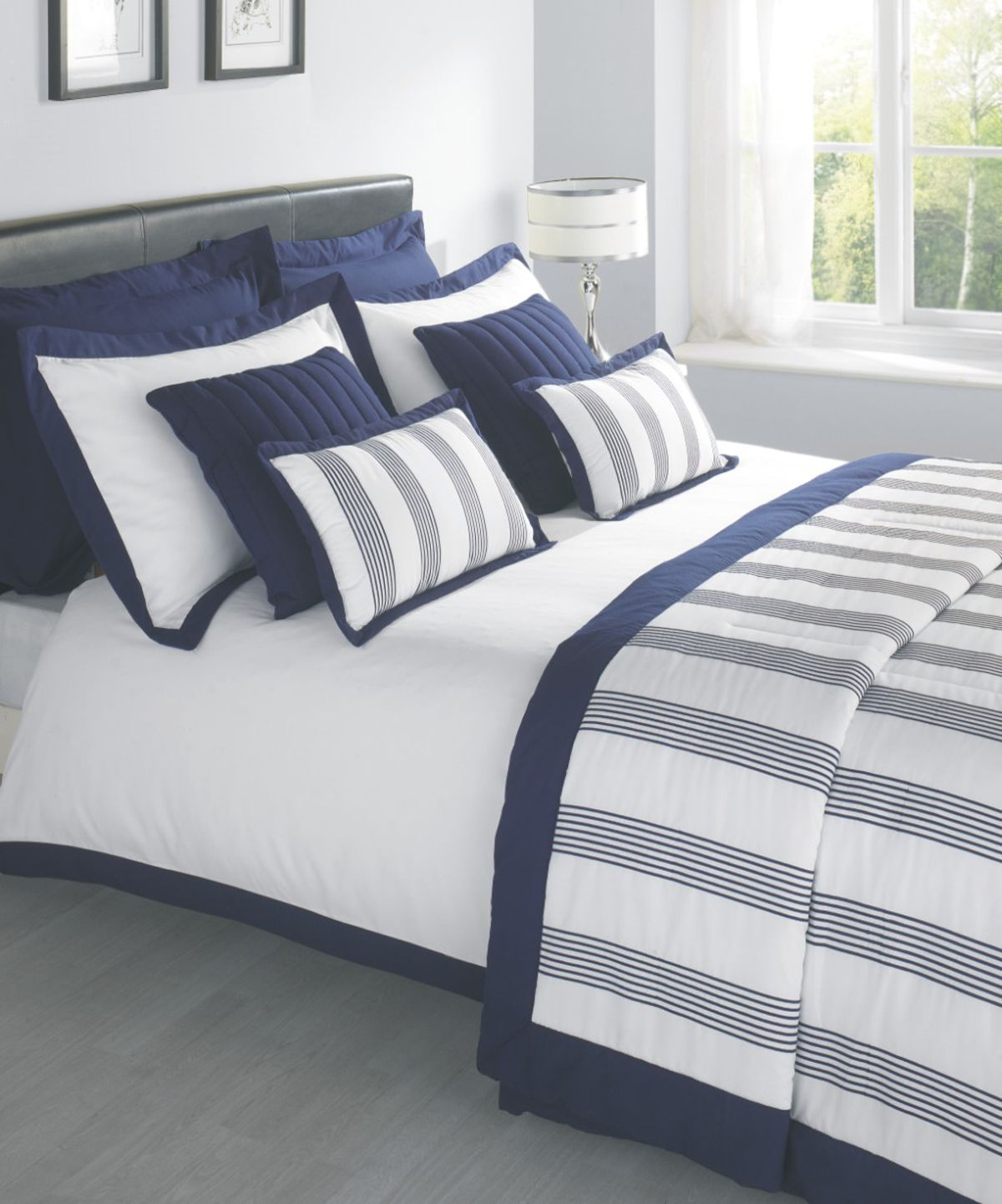 Blue and white bedding - Portland Luxury Bedding By Julian Charles