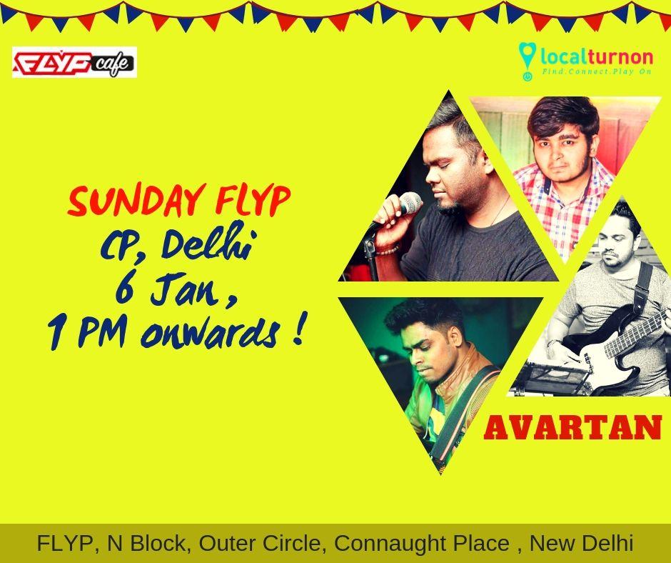 Avartan fresh retro rock n roll sunday flyp in delhi