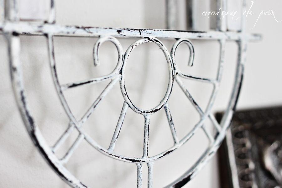 Chippy Metal Finish Tutorial Patio Furniture Pinterest Chalk