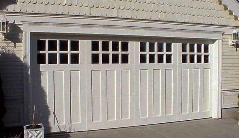 Aspen Craftsman Style Custom Wood Garage Door Etsy In 2020 Garage Door Styles Wood Garage Doors Wooden Garage Doors