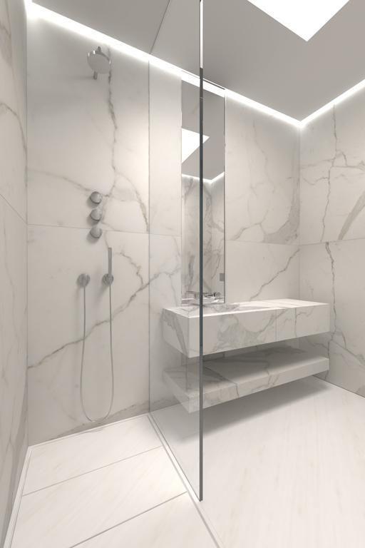 Diseños de cuartos de baño para la vivienda proyectada por A-cero en ...