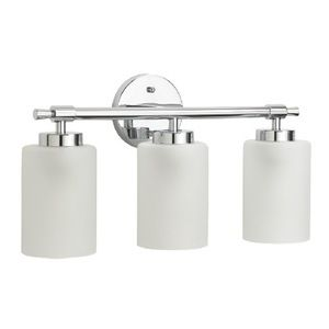 Chrome Bathroom Light mirabelle mirmled3lgtcp edenton 3 bulb bathroom lighting