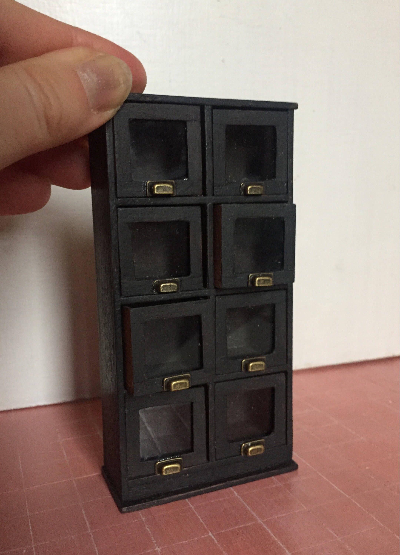 Mini Cassettiera Fai Da Te casa delle bambole miniature mobile, miniature cassettiera