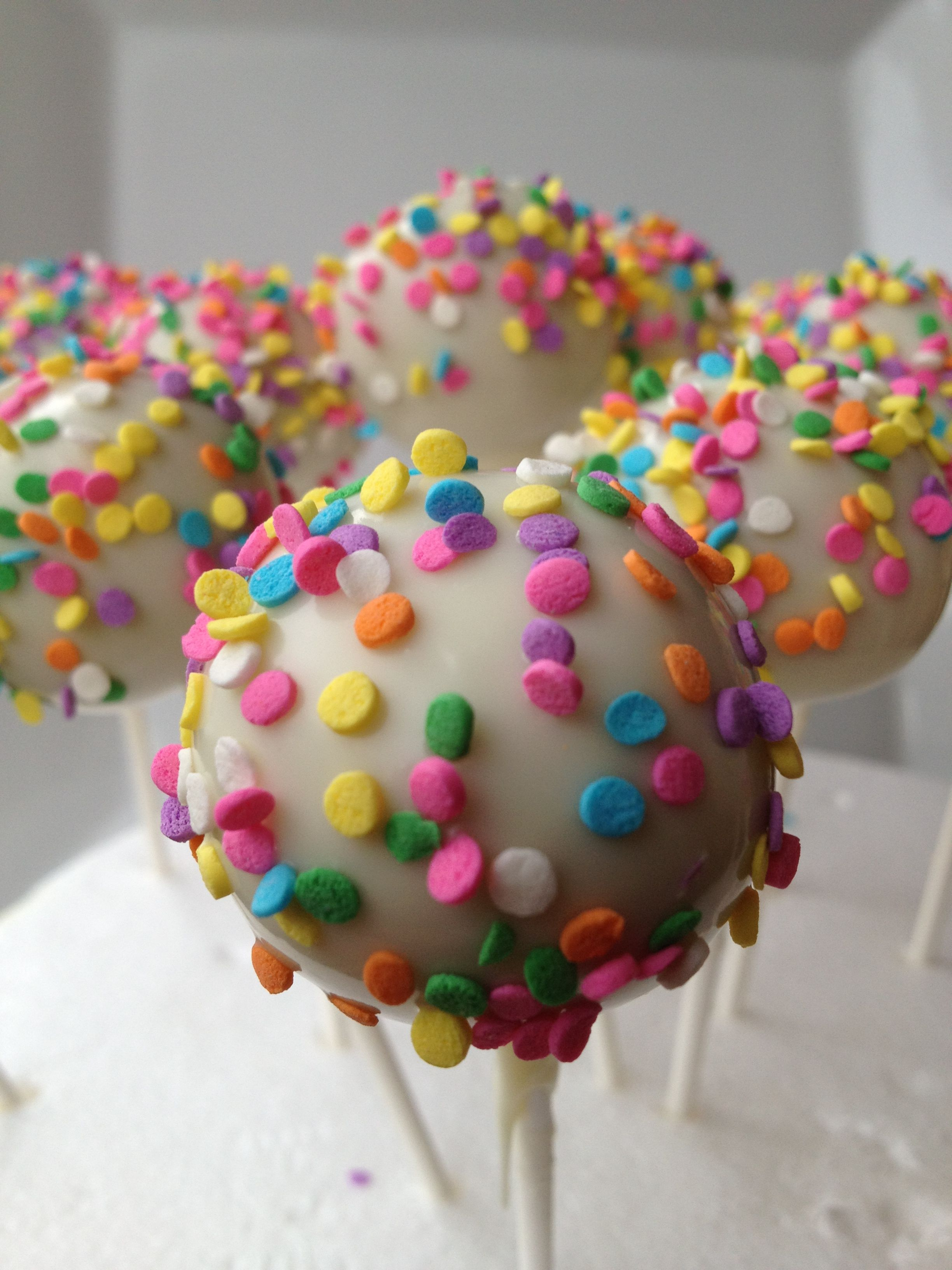 Chocolate rainbow sprinkle cake pops cake pops