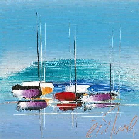 Douce Marine Peinture De Voilier Peintures D Art Abstrait Et
