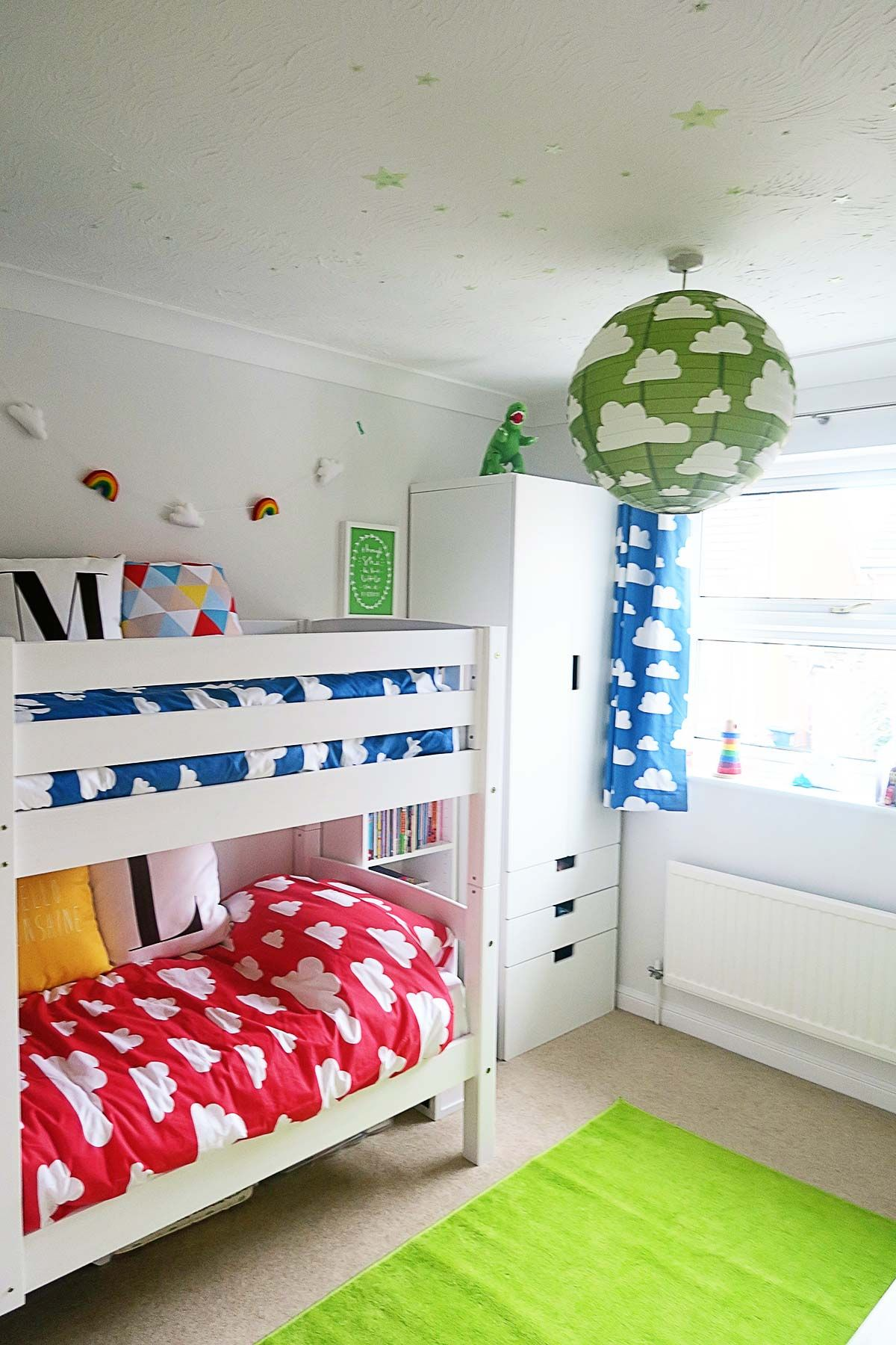 A Colourful Shared Kids Bedroom  Clouds By Farg U0026 Form.