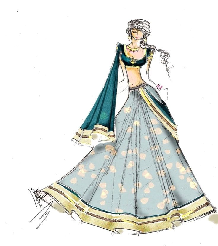 fashion sketches indian wedding dresses modern couture