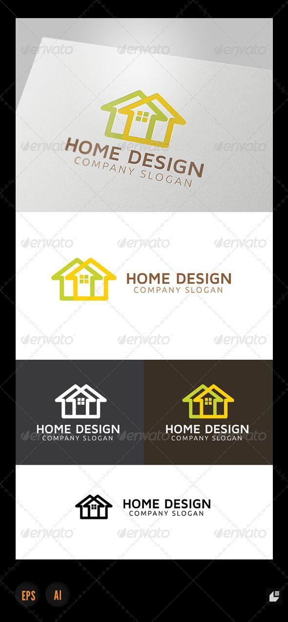 Home Design Logo | Logos, Building logo and Logo templates