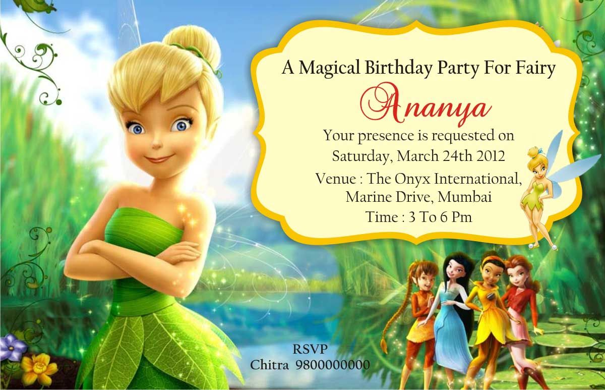 Tinkerbell birthday invitations birthday ideas pinterest tinkerbell birthday invitations bookmarktalkfo Image collections