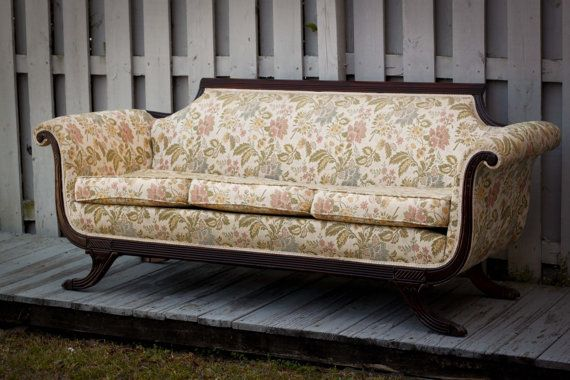Custom Upholstery Vintage Duncan Phyfe Sofa on Etsy 129800
