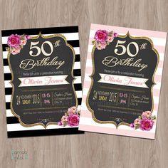 50th birthday invitation 50th birthday invitation for women 50 and 50th birthday invitation 50th birthday invitation for women filmwisefo Gallery