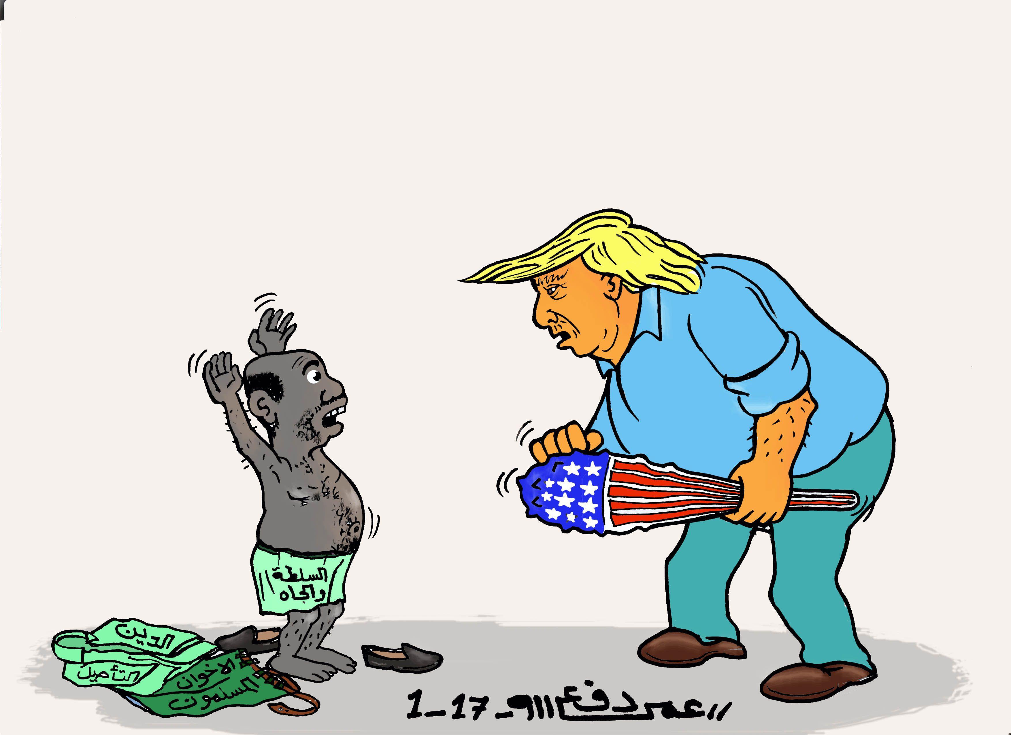 كاركاتير اليوم الموافق 30 يناير 2017 للفنان عمر دفع الله