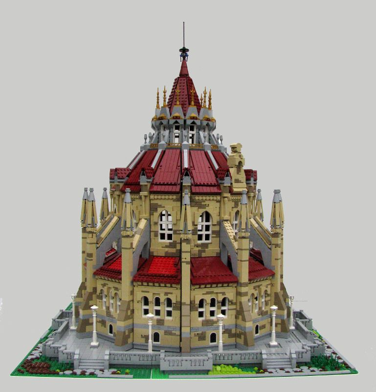 wip - library of parliament (front) | legos, legos and lego