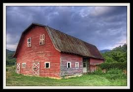 painted barn weathered