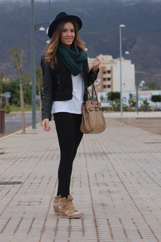 wedge sneaker outfits