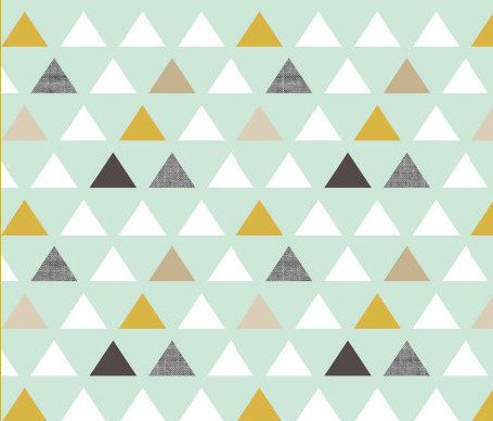I like these colors!  Changing Pad Cover - Mod Mint Triangle