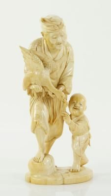 8274 - 19TH C. JAPANESE MEIJI IVORY FIGURE