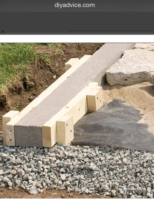 Installing A Concrete Curb Lay Out The Site Including The Width Of The Concrete Curbs And Excavate It T Garden Paths Landscape Design Backyard Landscaping
