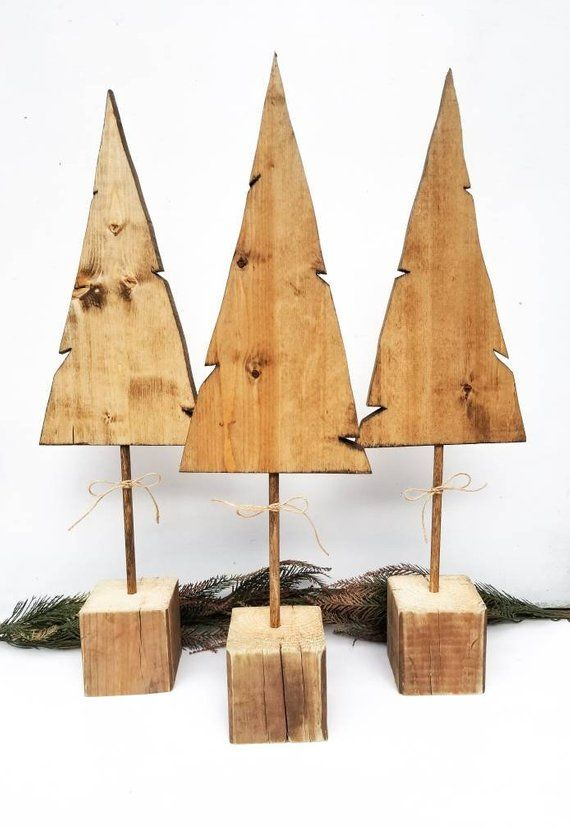 Wood Tree Decor - Wood Christmas Tree - Rustic Wood Tree - Tree Decor - Tree Decoration - Christmas Decoration - Christmas Sign #weihnachtenholz