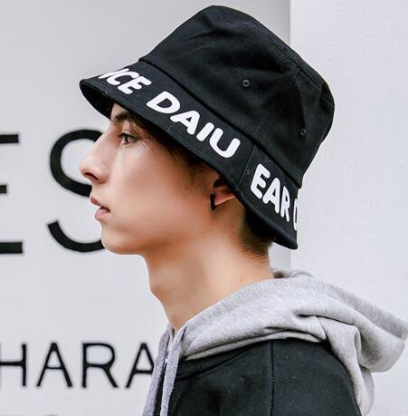 e062c67997 Ear dance letter bucket hat for men 2019 spring packable sun hats ...