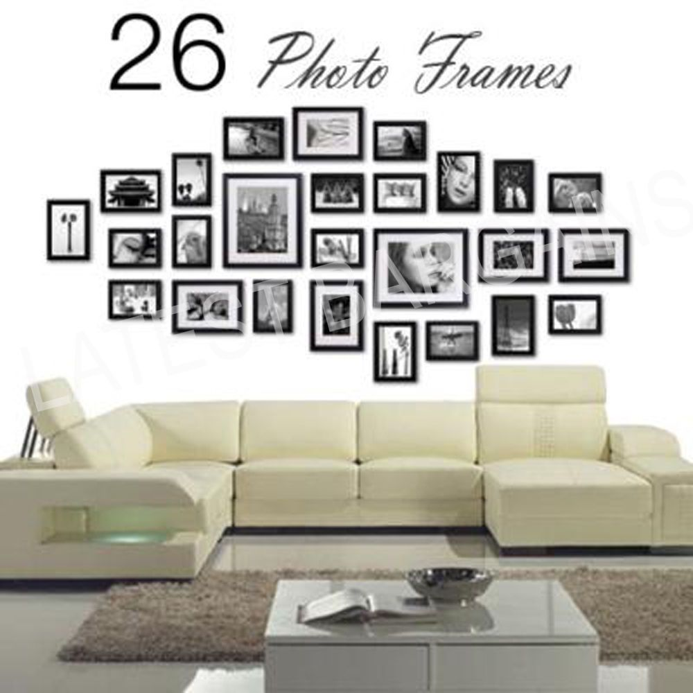 New 26 Piece Collage Photo Frame Wall Set Picture Frame Black Home Decor Frames On Wall Picture Frame Decor Multi Picture Frames