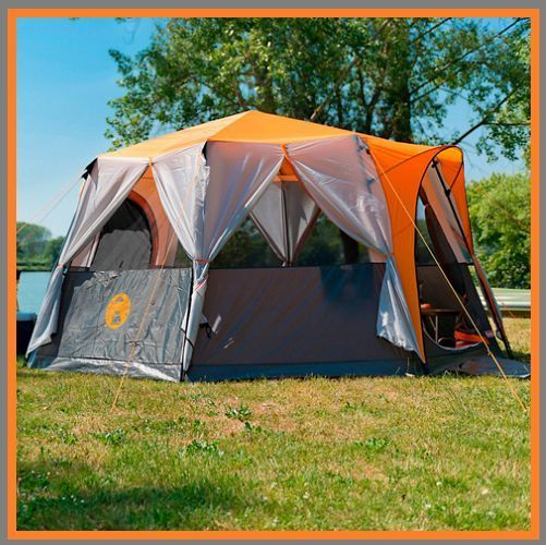 8 BERTH TENT Group Family C&ing Large Octagon Frame Coleman Holiday Festival & 8 BERTH TENT Group Family Camping Large Octagon Frame Coleman ...