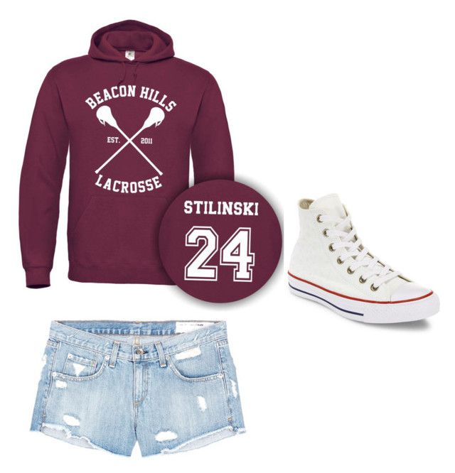 """""""Teen wolf style"""" by dbennetti on Polyvore featuring rag & bone/JEAN and Converse"""