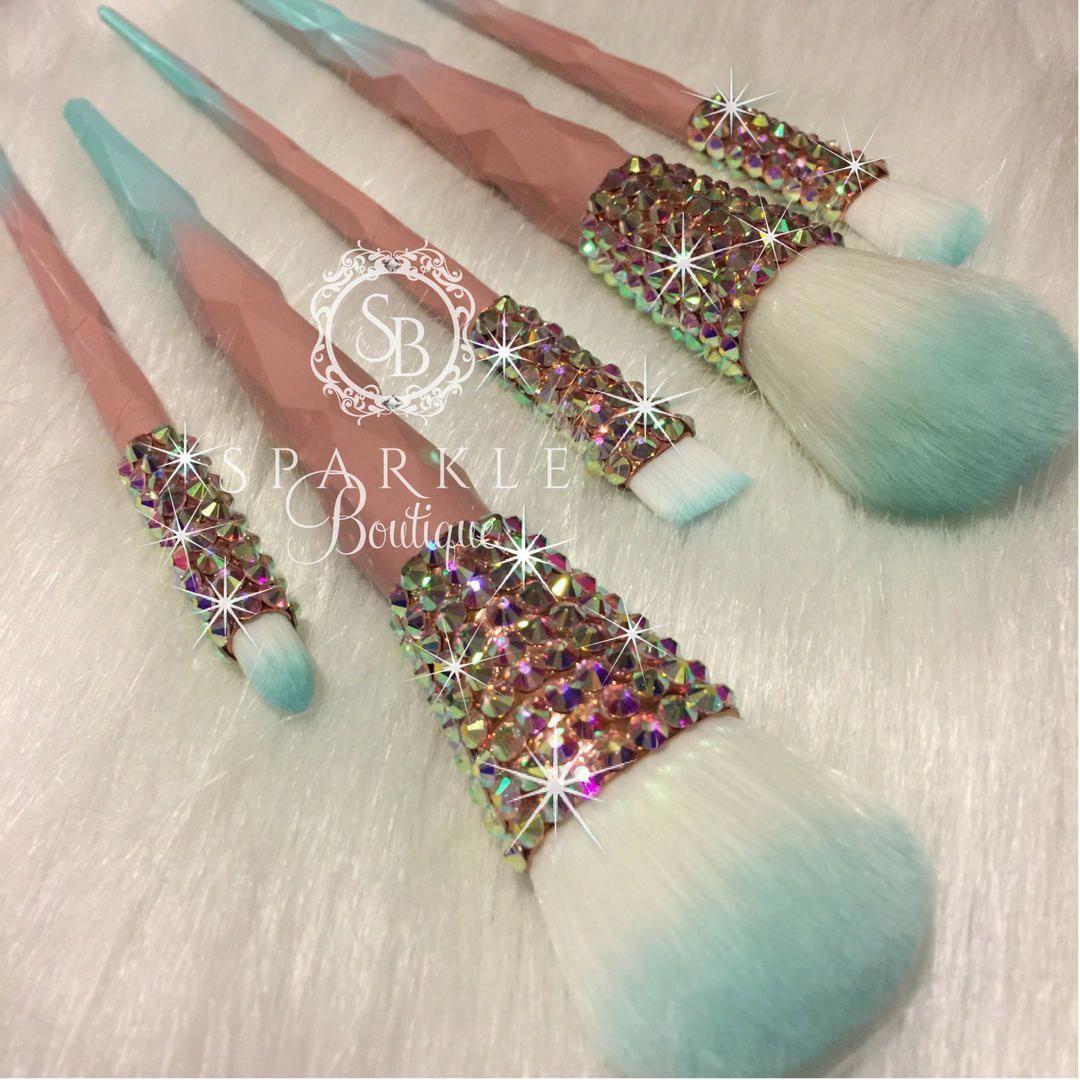 Swarovski MakeUp Brushes BLING Make Up Brush Set ONLY