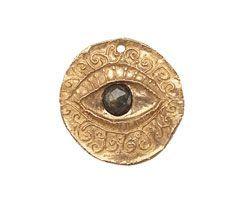 Photo of Green Girl Bronze Eye Coin (w / Sapphire) 21-23mm – Green Girl Bronze …