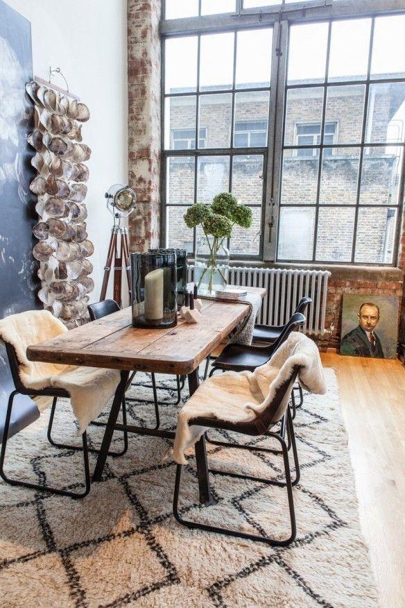 Un loft de dingue à Londres | Coming Home | Tapis salle à manger ...