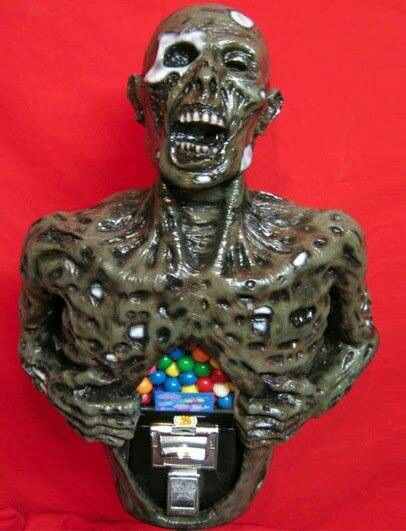 interior design, home decor, home accessories, gum ball machines, zombies