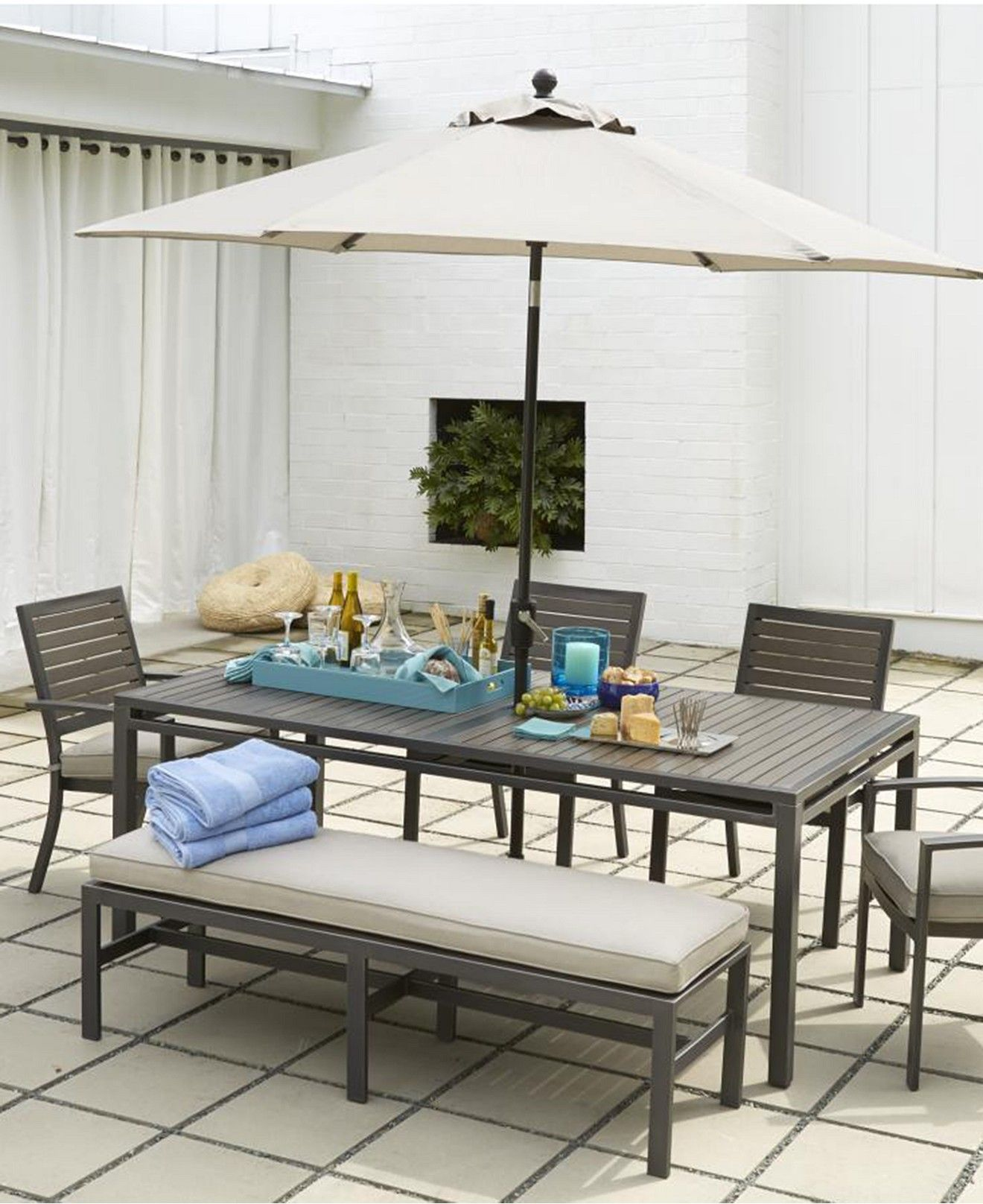 CLOSEOUT Marlough Outdoor Dining Collection Created for Macy s