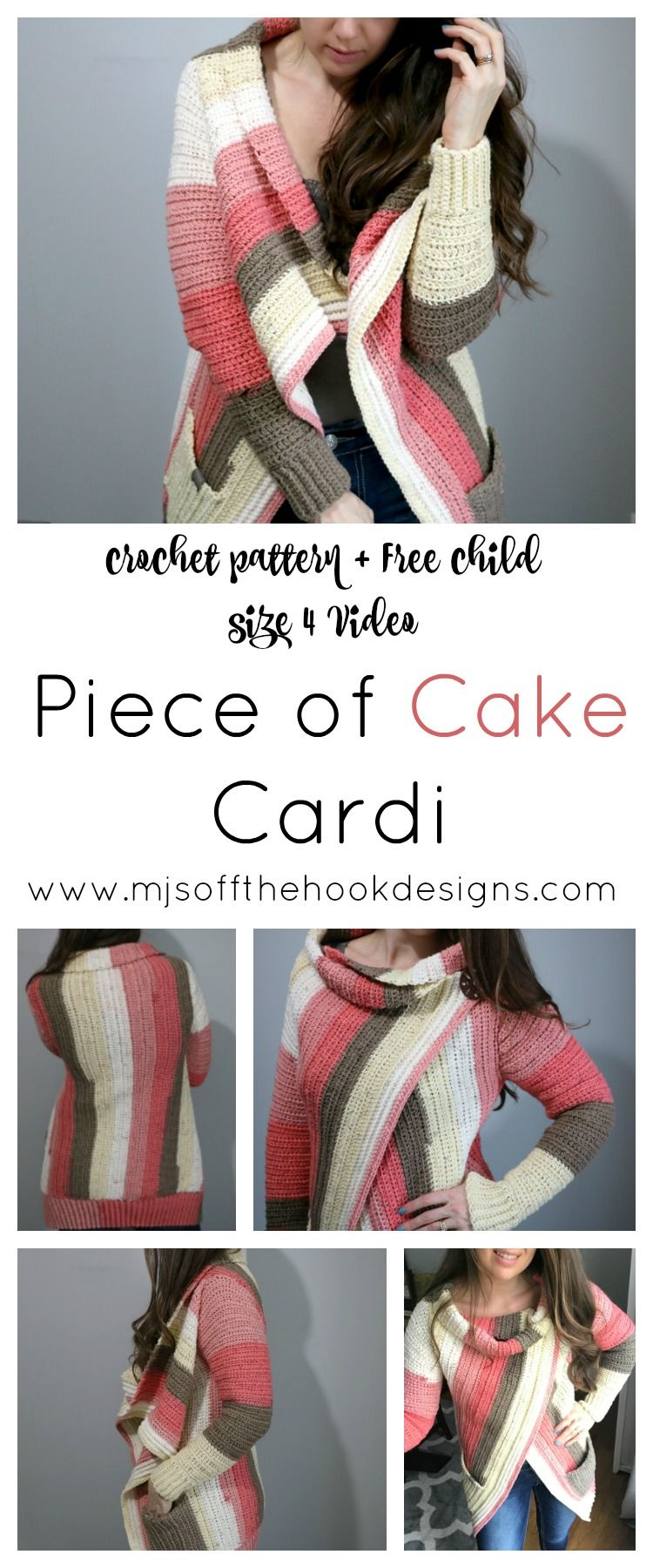 How to Make The Piece of Cake Cardi | tejer | Pinterest | Croché ...