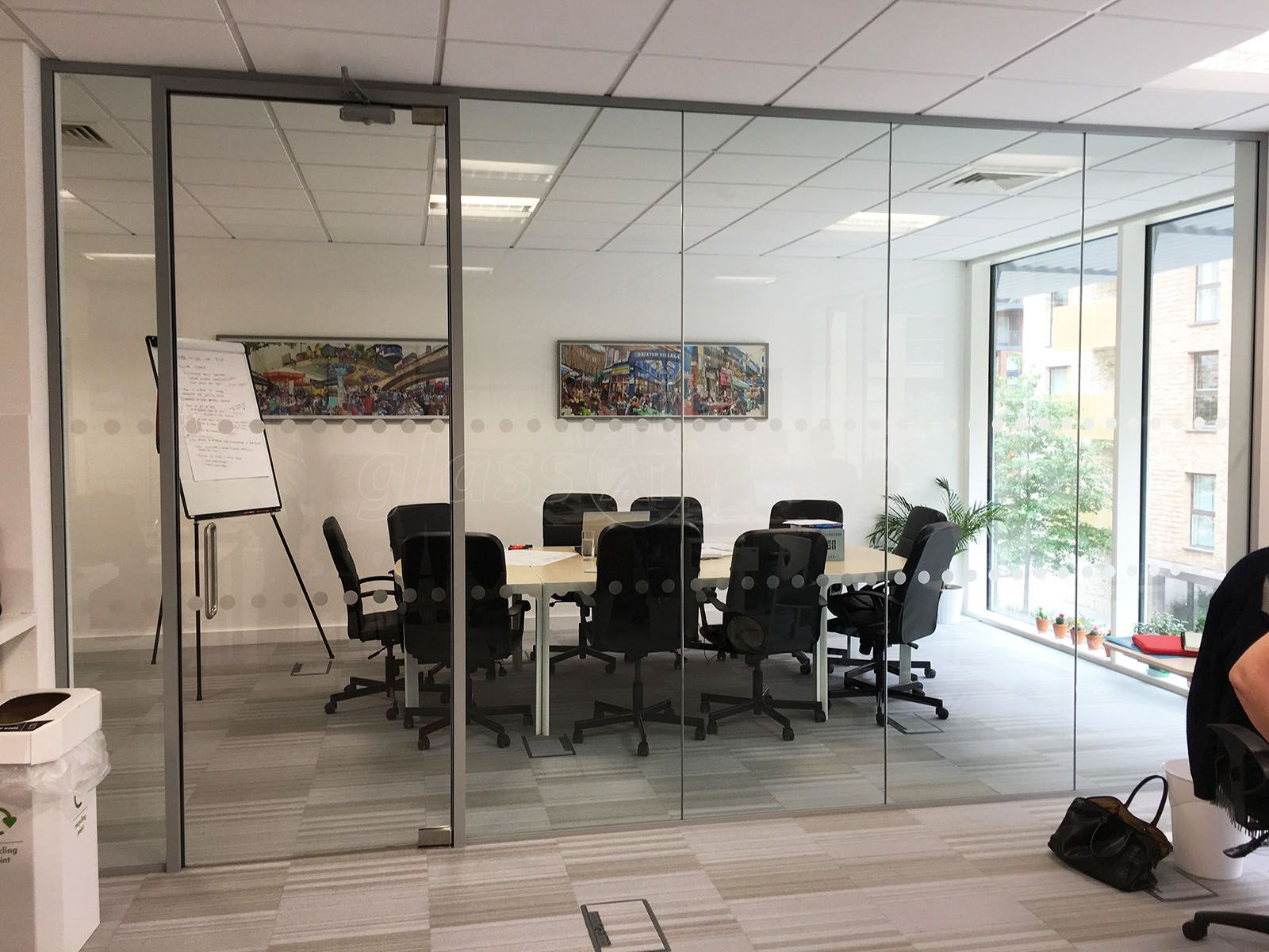 From glass at work acoustic glass partition with framed glass from glass at work acoustic glass partition with framed glass door for wendy fisher consulting planetlyrics Choice Image