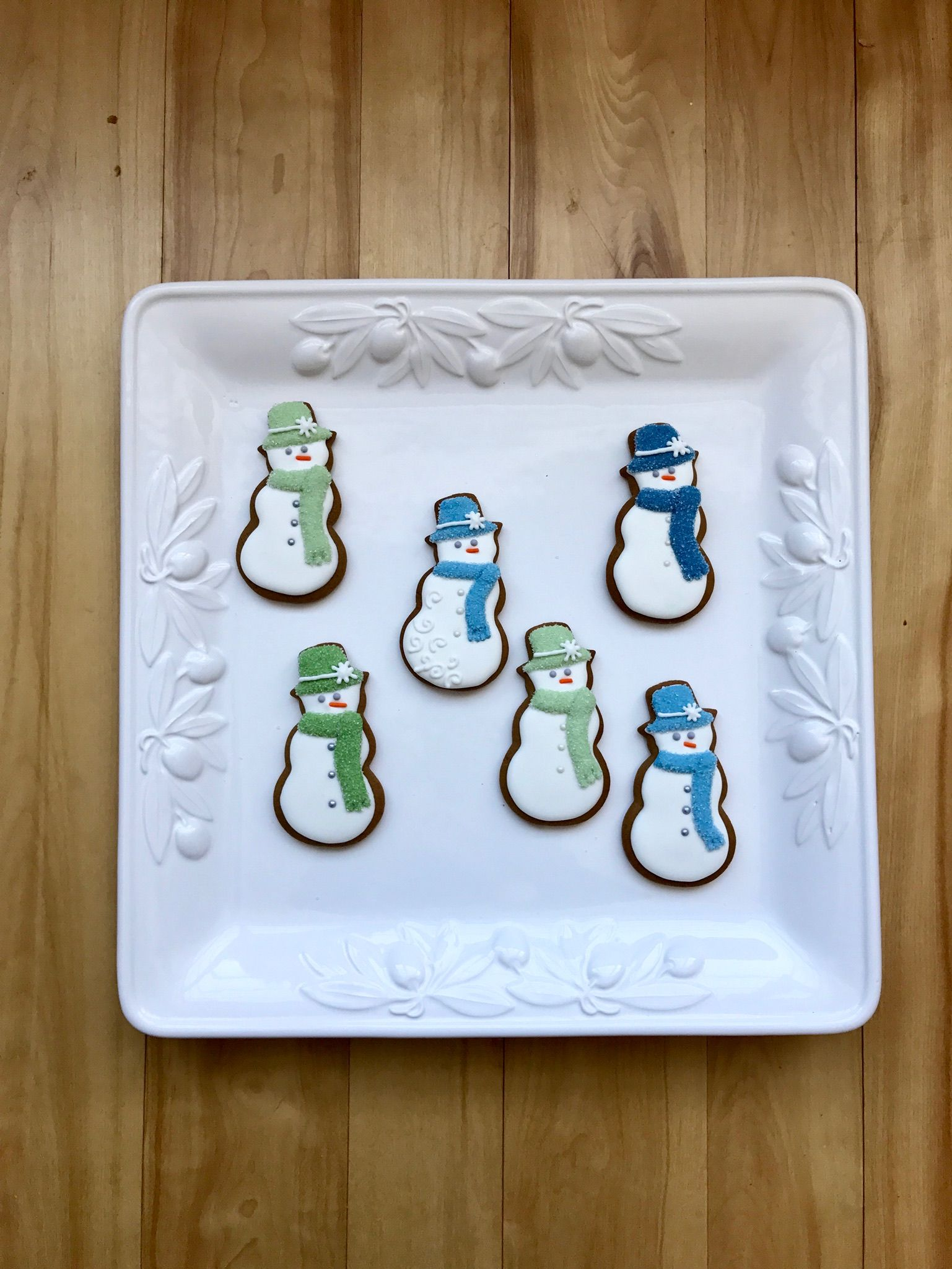 Royal icing cookies - Christmas winter snowman