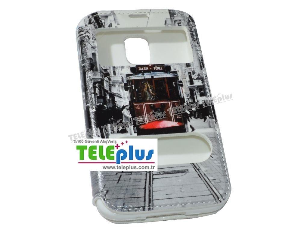 Samsung Galaxy S5 Çift Pencereli Uyku Modlu Kılıf Tramvay Desen -  - Price : TL28.90. Buy now at http://www.teleplus.com.tr/index.php/samsung-galaxy-s5-cift-pencereli-uyku-modlu-kilif-tramvay-desen.html