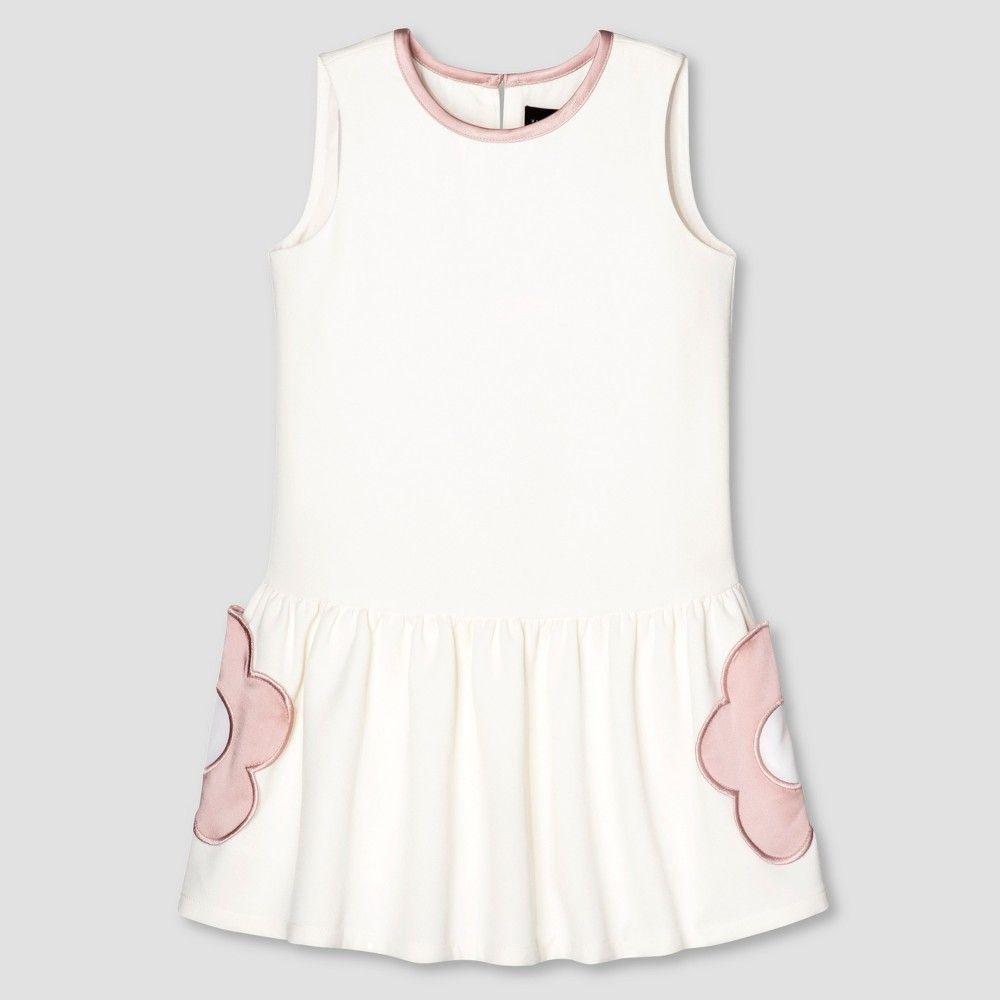 Toddler Girls White Flower Pocket Drop Waist Dress 3t Victoria
