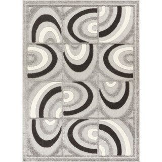 Well Woven Modern Geometric Abstract Tile Work Indoor Outdoor Area Rug High Low Pile Carpet 7 10 X 9 10 In 2019 Indoor Outdoor Area Rugs Area Rugs Outdoor Area Rugs