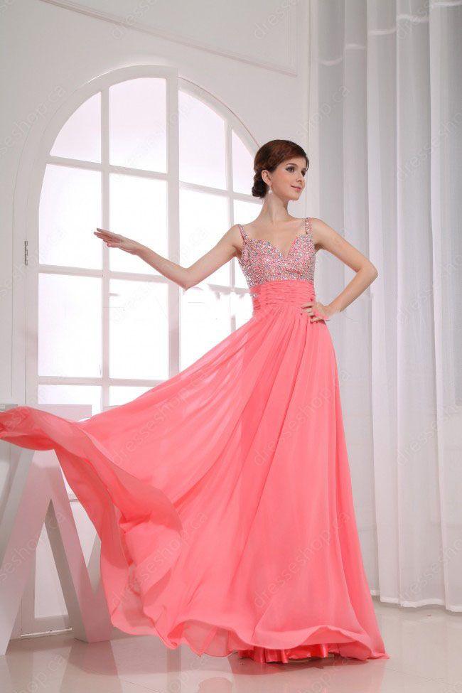 watermelon #Evening Dress | Fashion | Pinterest | Vestidos prom ...