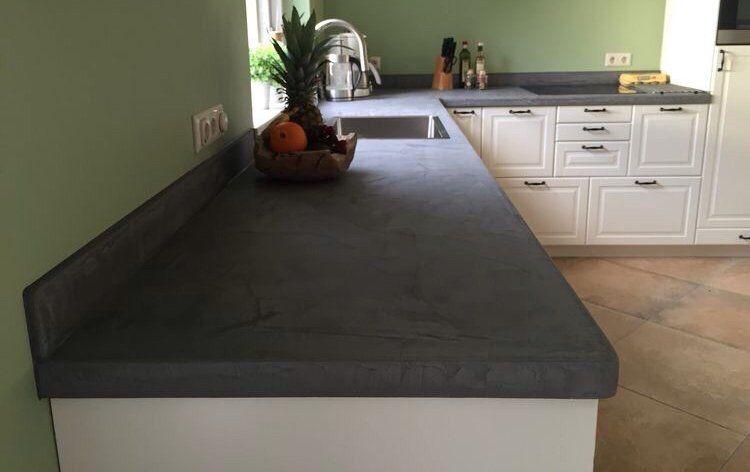 Beton cire keukenblad betoncire waterdicht