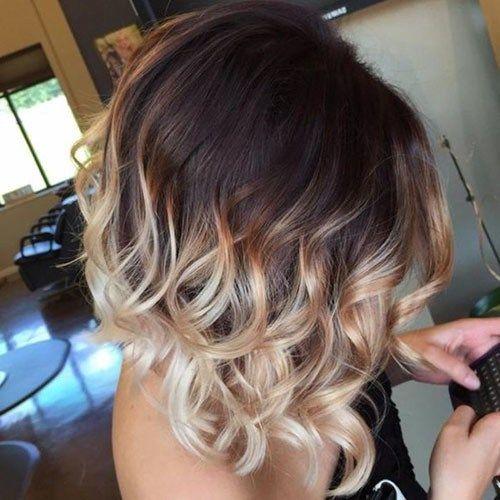 Short Dark Brown Hair Beautiful Brown To Blonde Ombre Short Hair Short Ombre Hair Blonde Ombre Short Hair Short Hair Balayage